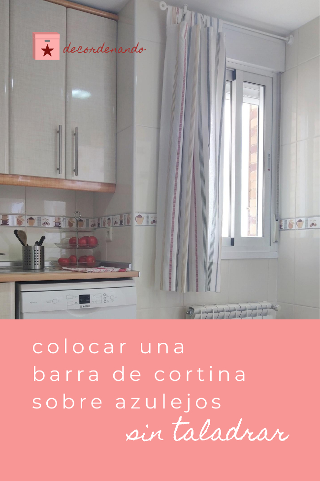 colocar una barra de cortina sobre azulejos sin taladrar