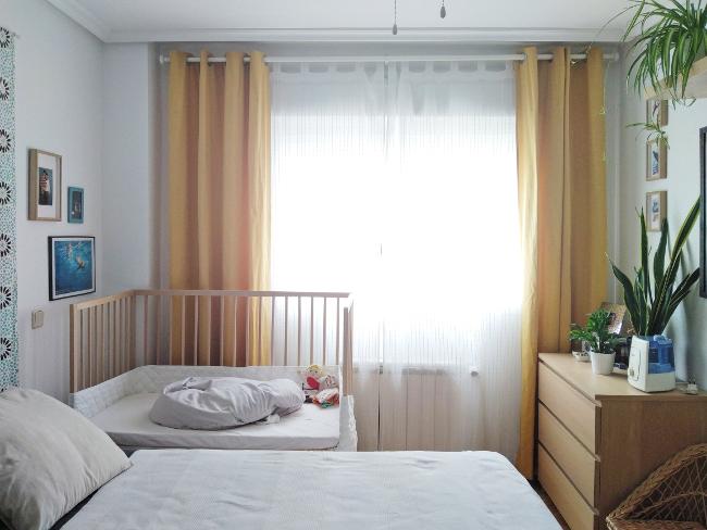 mi ventana con cortinas