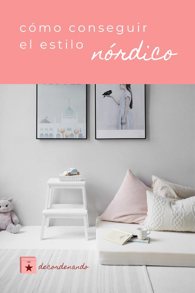 Imagen para Pinterest - cómo conseguir el estilo nórdico