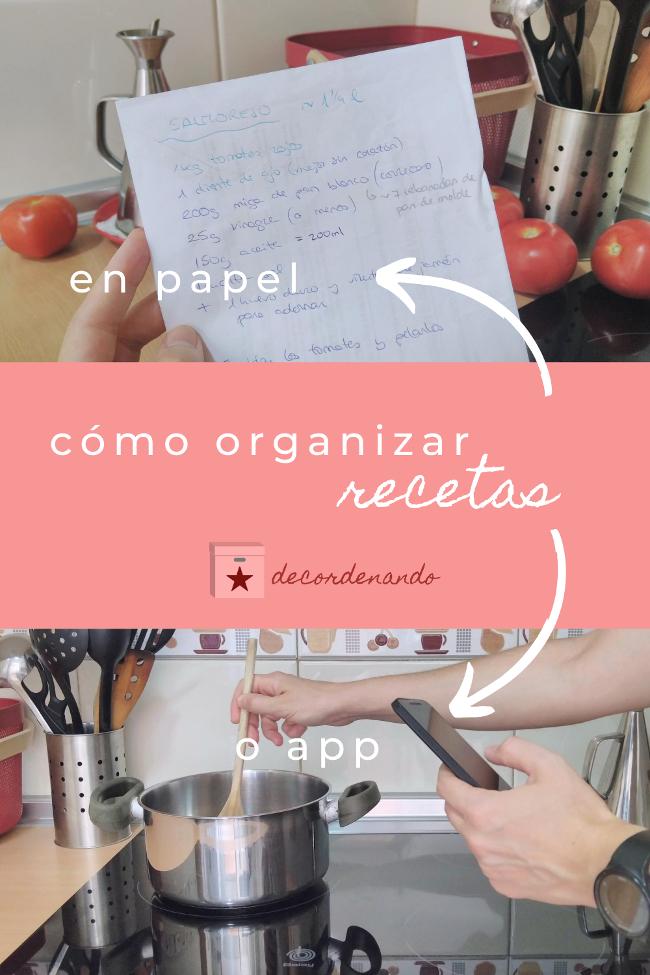 imagen para Pinterest - cómo organizar las recetas
