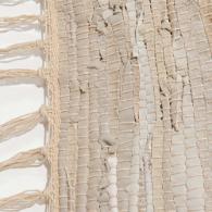 alfombra de cuero y algodón