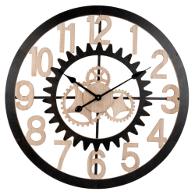 reloj de pared estilo industrial