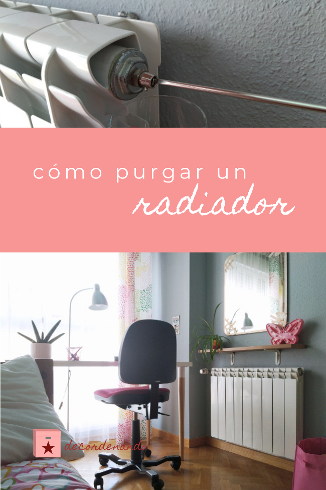 imagen para Pinterest: cómo purgar un radiador