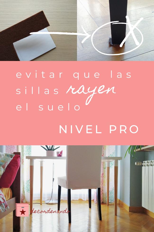 imagen para Pinterest: evitar que las sillas rayen el suelo - nivel PRO
