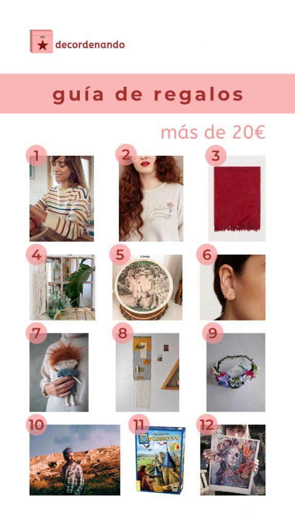 guía de regalos de más de 20 euros