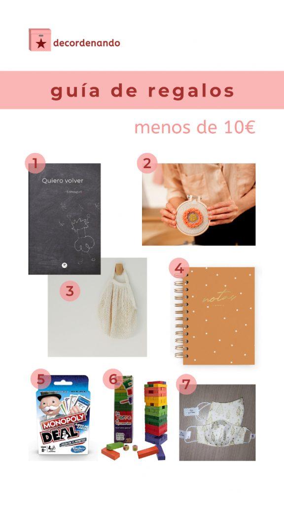 guía de regalos de 10 euros o menos