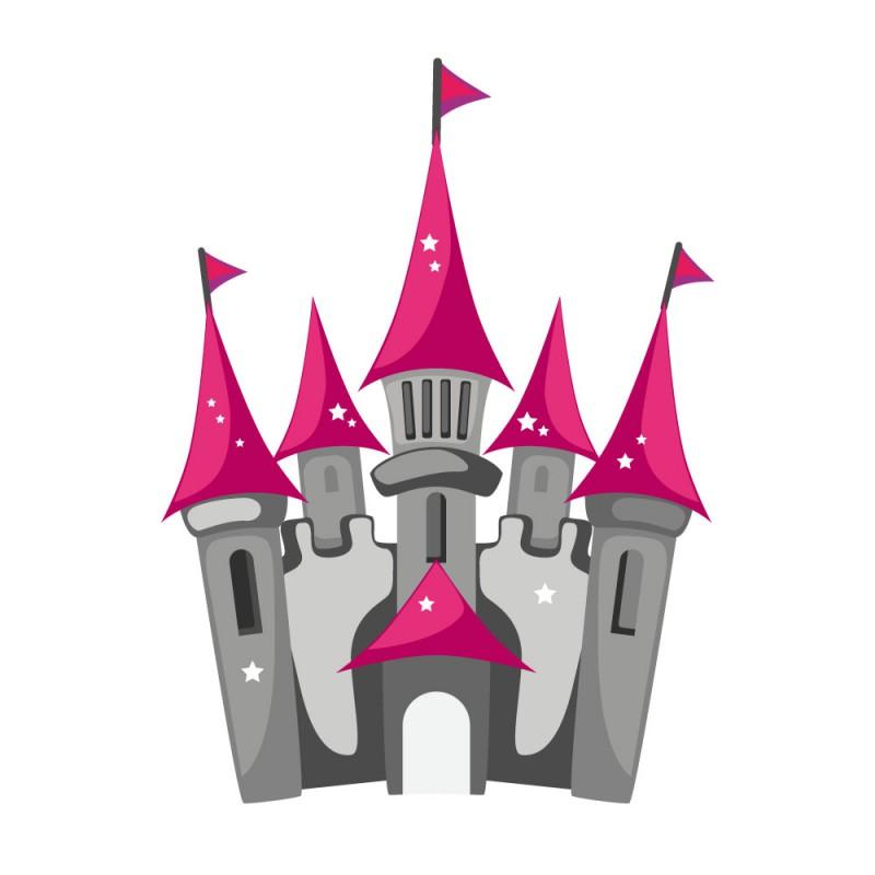 Sticker chteau de Princesse  Decoration fille