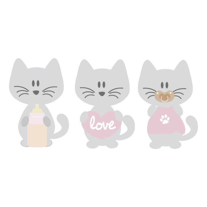 Stickers chatons pour dcoration chambre bb garon par Dcorcbo