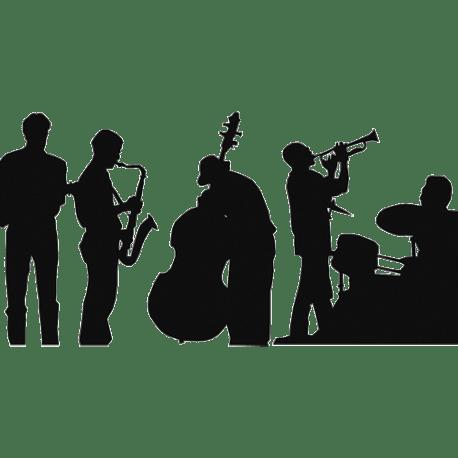 Sticker musique  Sticker Jazz pour dcoration de pice  vivre