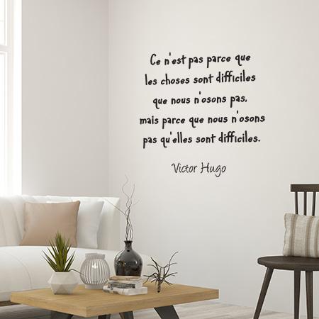 Stickers Muraux Textes Clbres De Victor Hugo Adhsif