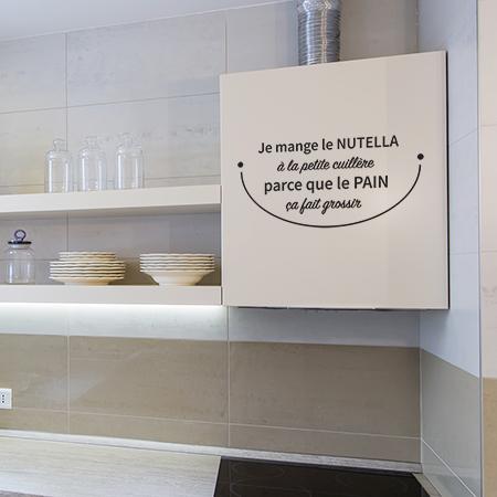 Stickers cuisine texte humour mur et meubles  Autocollants cuisine