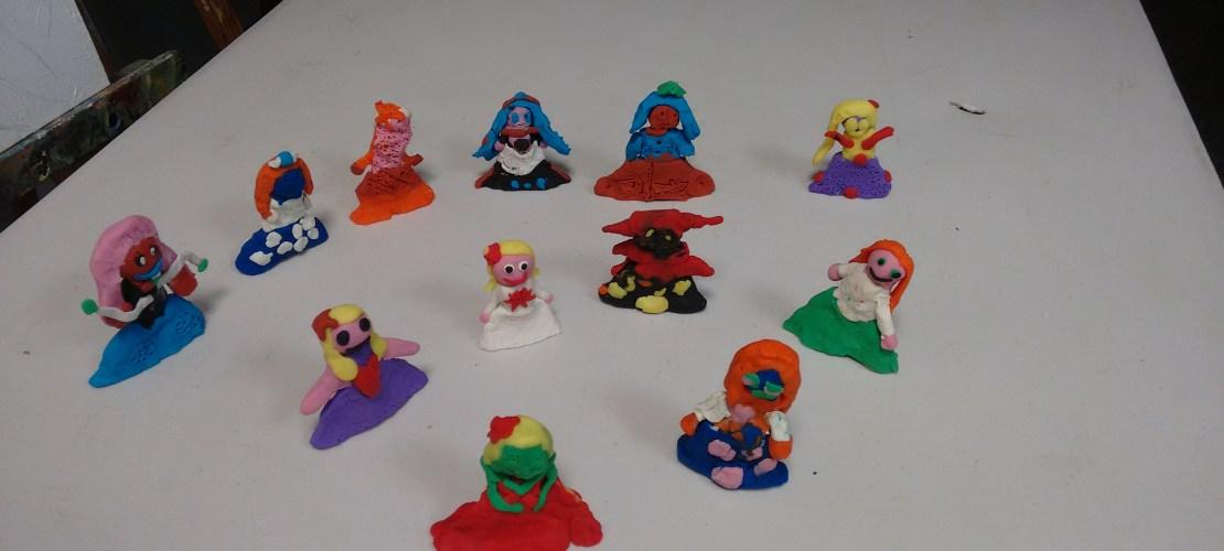 Las Meninas realizadas en plastilina