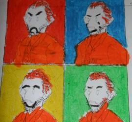 Van Gogh y Warhol unidos en un cuadro