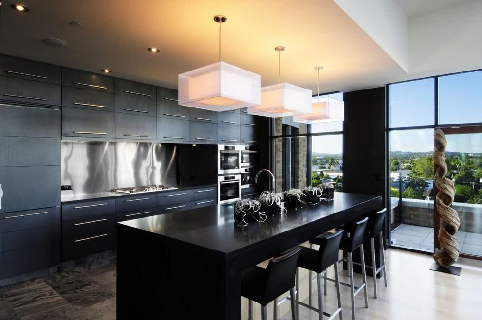 ikea kitchen island canada new ideas cozinha preta: 89+ modelos, fotos e projetos incríveis