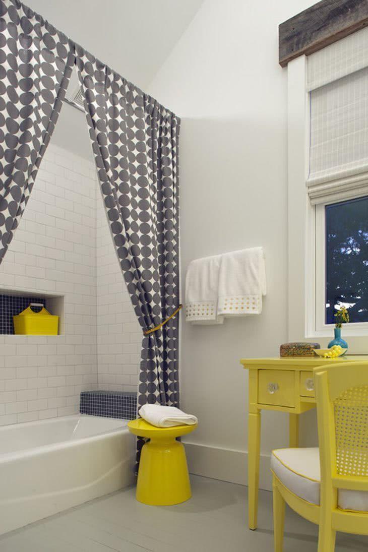 Cortina para Banheiro 60 Modelos e Ideias para a Janela