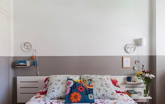 Faça uma cabeceira simples e barata para o quarto