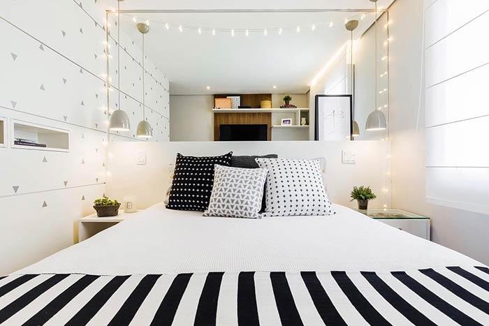 Para criar um ambiente mais aconchegante no quarto