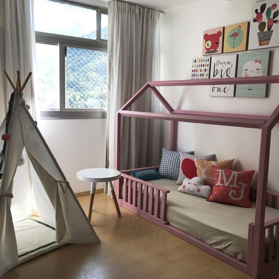 Abuse das cores em um quarto infantil