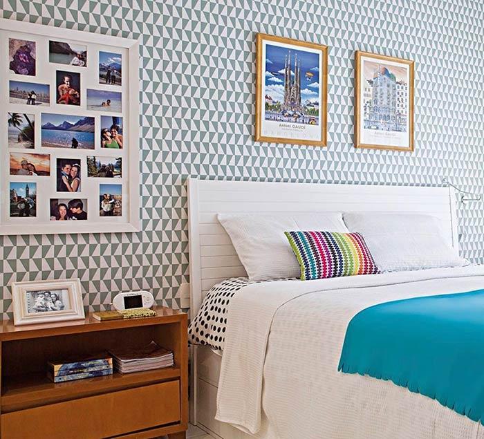 Painel de fotos para decorar a parede