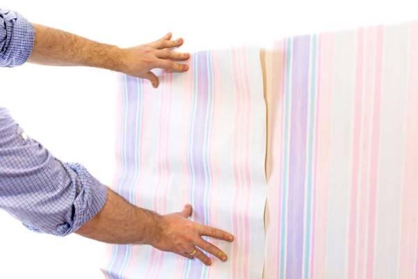 Aplicação do papel de parede