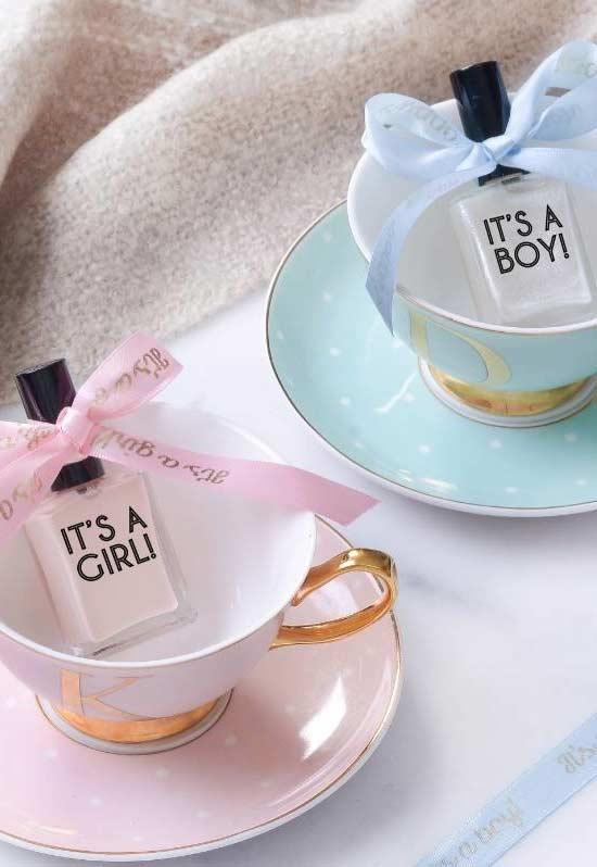 Kit para chá de bebê com xícara