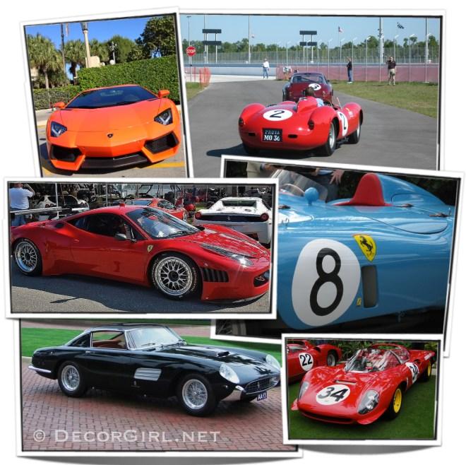 Lamborghini and Ferraris