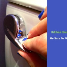 Be Sure To Flush In The Kitchen