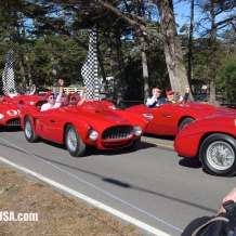 Pebble Beach Road Race Recreation with Ferraris