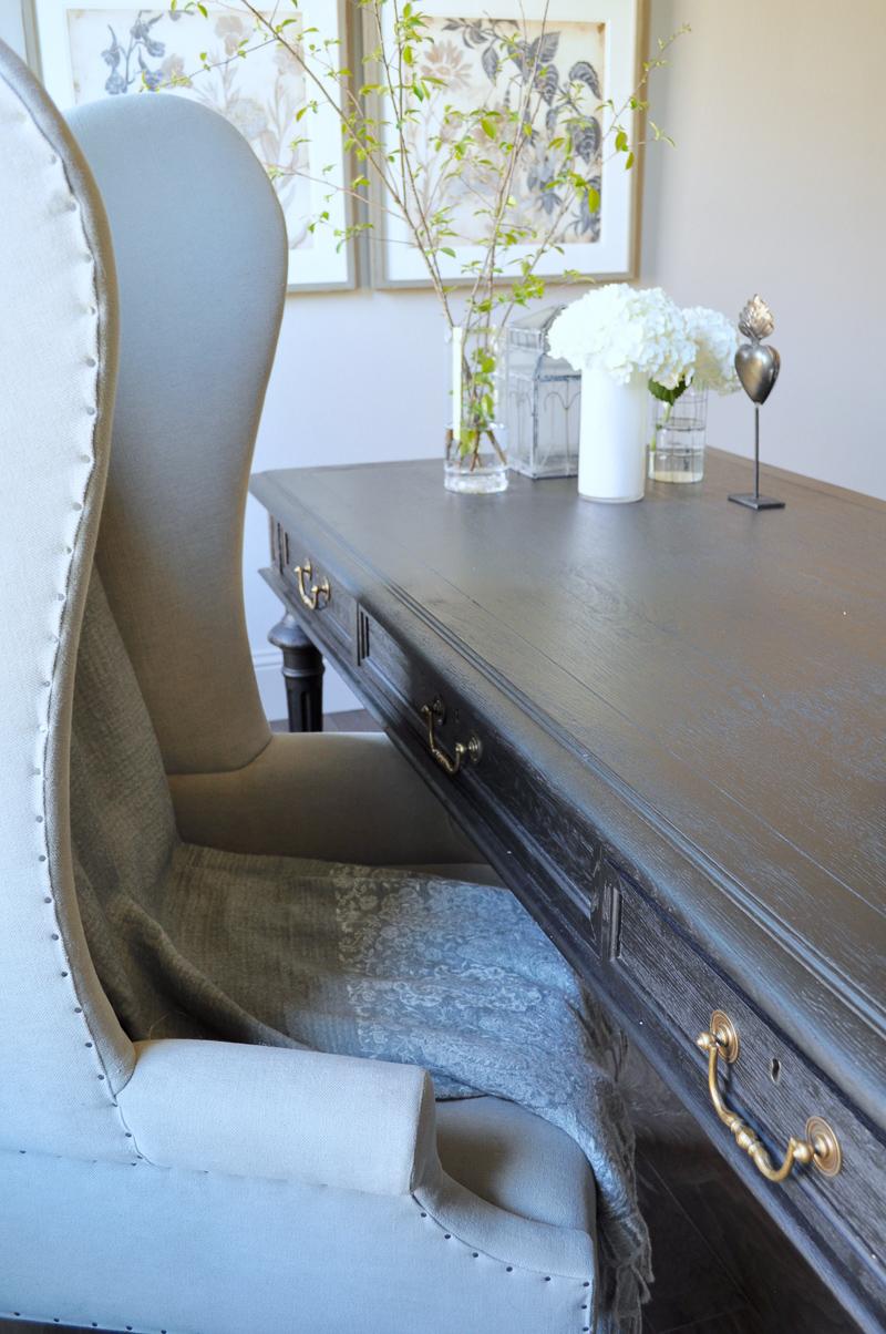 desk chair gold steel vinyl our home office - decor designs