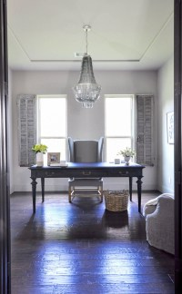 Home Office - Updated With a Beautiful Chandelier - Decor ...
