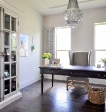 Home Office - Updated With Beautiful Chandelier Decor