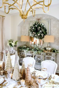 Elegant Traditional Christmas Dining Room by Decor Gold ...
