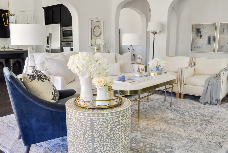 beautiful living room images furniture design makeover reveal by decor gold designs white blue velvet chair