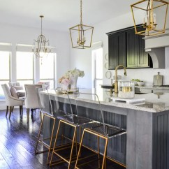 Gold Kitchen 4 Seat Island Update With Accents By Decor Designs Beautiful