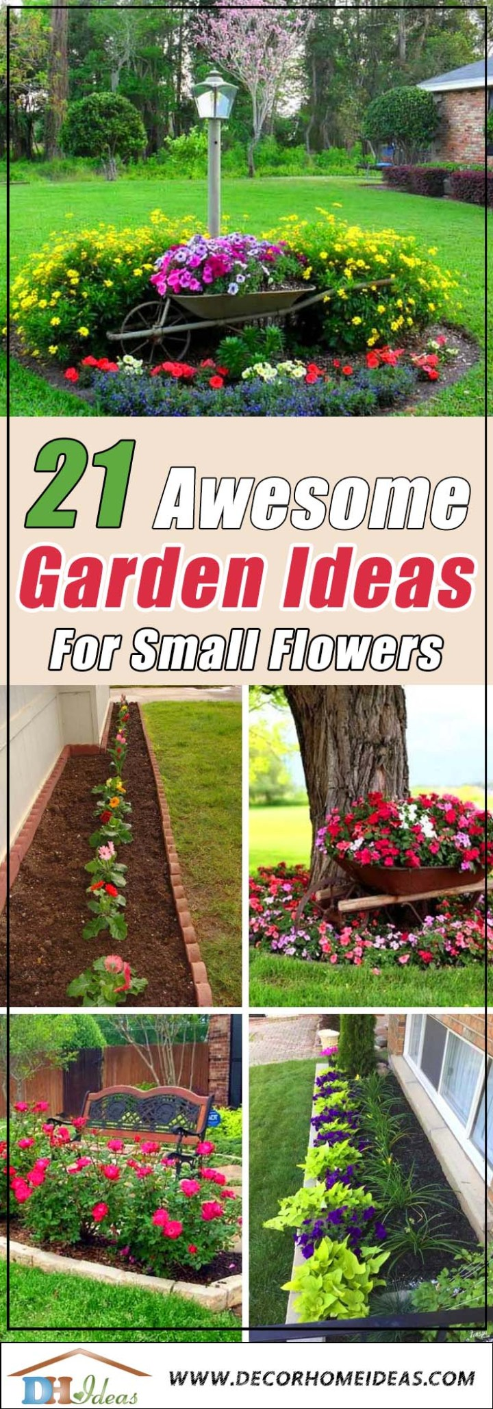 21 awesome garden ideas for small flowers