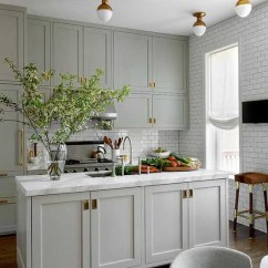 Grey Kitchen Cabinets Modern Tile 25 Best Gray Cabinet Ideas And Designs With Central Marble Countertop Graycabinets Graypaint Graykitchencabinets