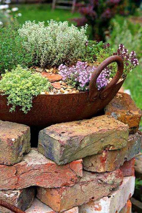 brick flower bed design ideas