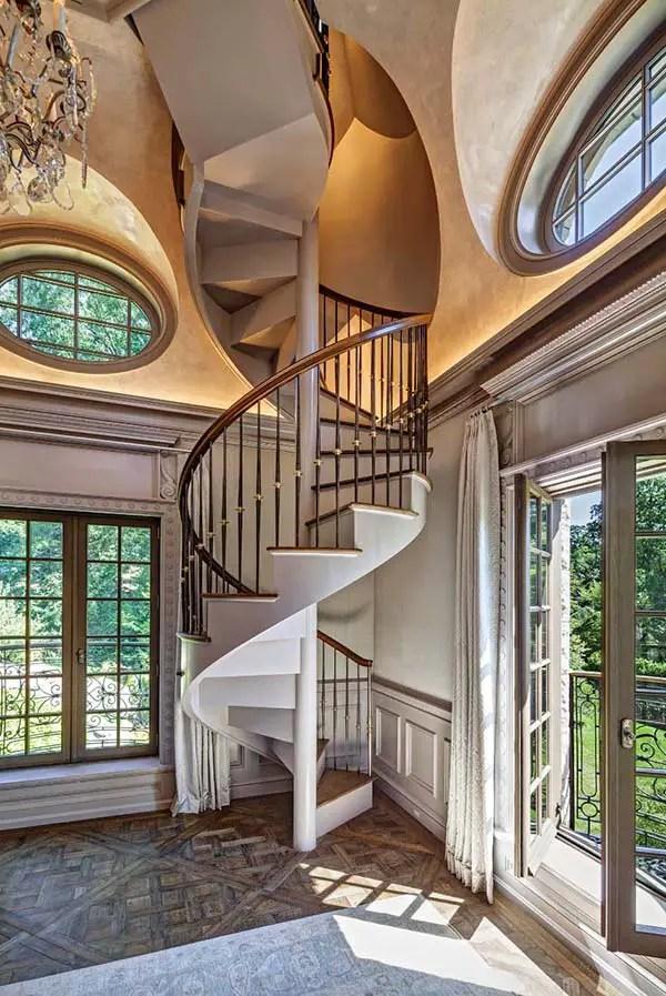 Cầu thang xoắn ốc kiểu Pháp # cầu thang # cầu thang # cầu thang # cầu thang bộ #decorhomeideas