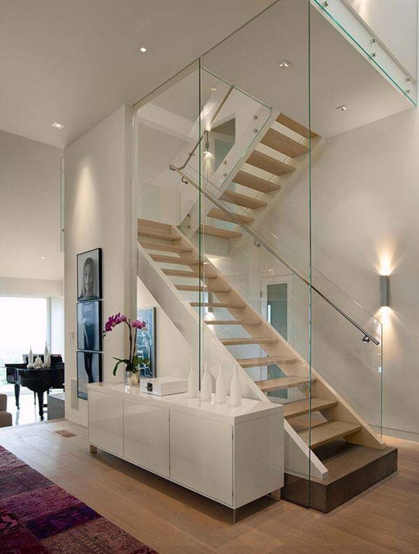 Cầu thang lan can kính # cầu thang # cầu thang # cầu thang # cầu thang #decorhomeideas