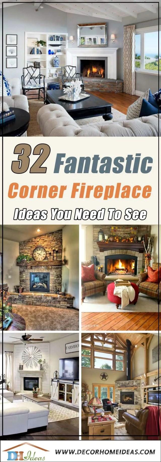 32 Fantastic Corner Fireplace Ideas Decor Home Ideas