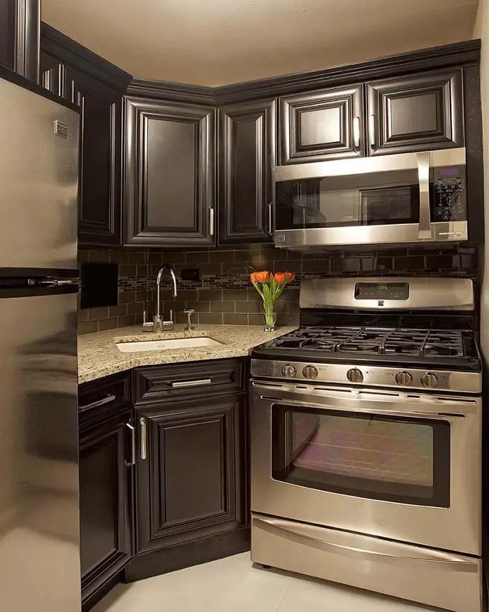 small kitchen design corner sink