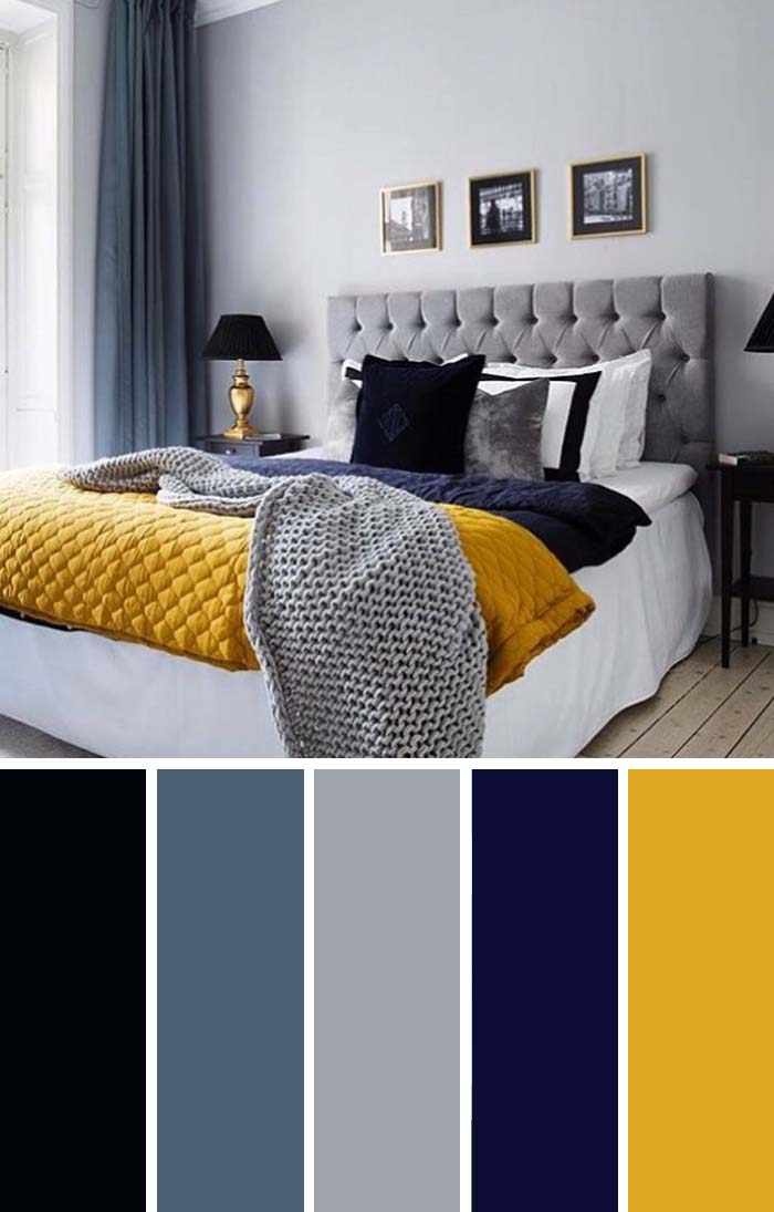 20 Beautiful Bedroom Color Schemes Color Chart Included Decor Home Ideas