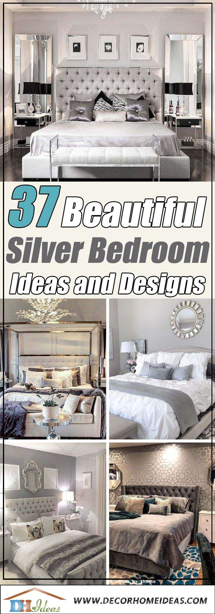 37 beautiful silver bedroom ideas