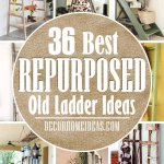 35 Creative Repurposed Old Ladder Ideas To Add Some Rustic Flair Decor Home Ideas