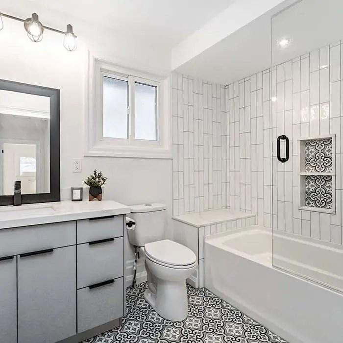 23 best white subway tile shower ideas