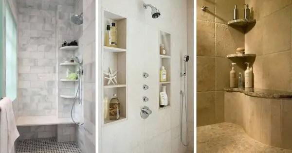 10 best tile shower shelf ideas to add