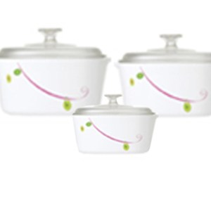 CorningWare 6pc Casserole Royal Sequins Set A-140-RQ