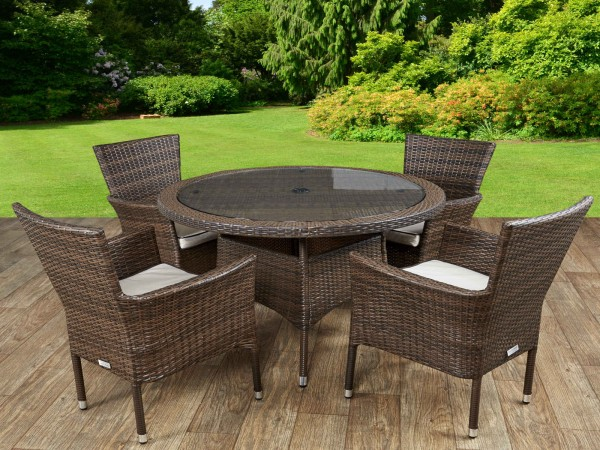 rattan table and chairs wood outdoor chair buy best garden cambridge 4 small round