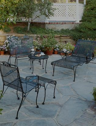 a picture perfect outdoor space with