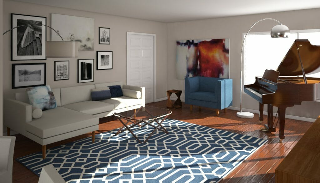 Before & After: Mid Century Modern Living Room Design